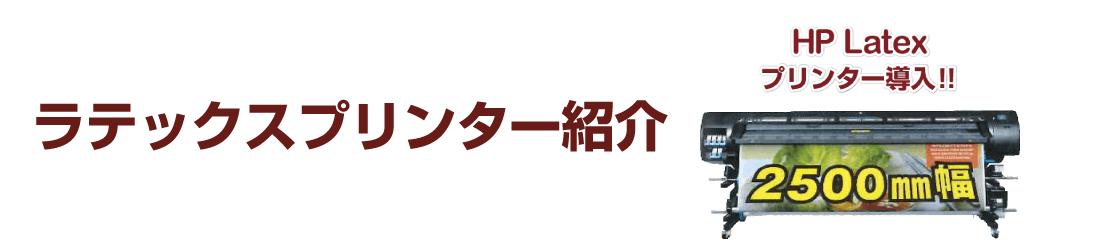 ラテックスプリンター紹介
